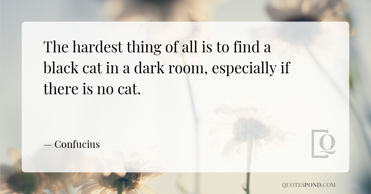 the-hardest-thing-of-all-is-to-find-a-black-cat-in-a-dark-room-especially-if-there-is-no-cat