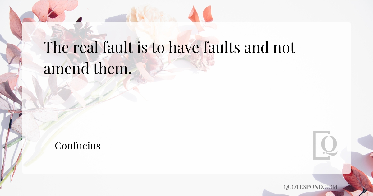 the-real-fault-is-to-have-faults-and-not-amend-them